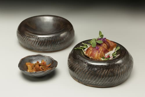 Tableware by Crazy Green Studios seen at Jargon, Asheville - Pillow/Reversible Bowls