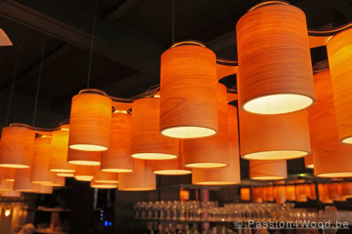Pendants by Passion 4 Wood seen at KFK Hope, Bruxelles - Carillon
