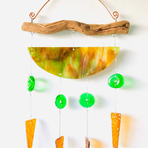 Wall Hangings by Samara Designs seen at Private Residence, Greenville - Meditation Glass Wind Chime