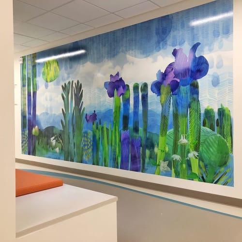 Murals by KittenChops Illustration seen at Seattle Children's Sand Point Clinic, Seattle - Iris Murals