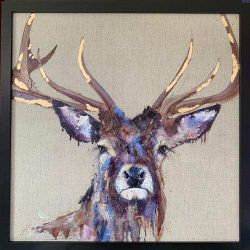 """Paintings by Louise Luton seen at Private Residence, Salisbury - """"Majesty"""" framed print"""