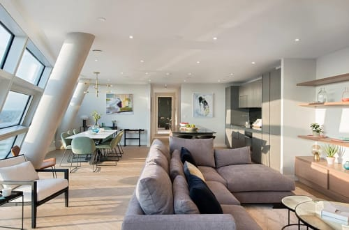 Interior Design by Michelle Harris (Harris & Home) seen at Two Fifty One, London - The Select Ten Show Apartment