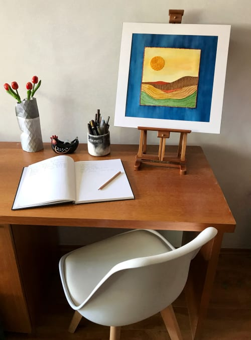 Paintings by Laila Vazquez seen at Private Residence, Mexico City - In a Lonely Place