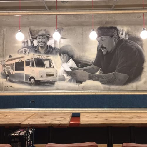 Murals by Kensuke Takahashi seen at Yokohama, Yokohama - Chef Mural