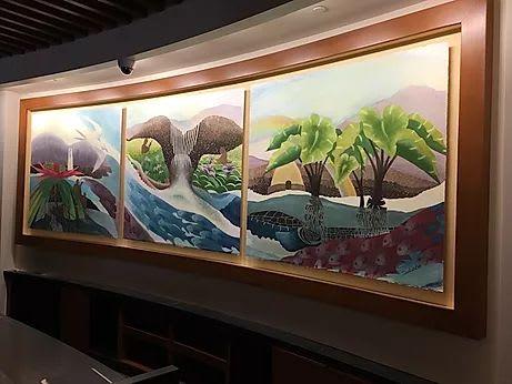 Paintings by Sabado Studios seen at The Westin Nanea Ocean Villas, Ka'anapali, Lahaina - Triptych