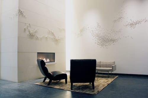 Sculptures by Christina Watka at The Dylan On Fifth, NYC, New York - Murmuration VII