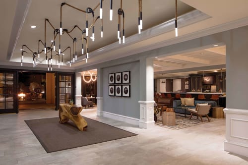 Chandeliers by Laspec Lighting -- Custom Lighting, Made in LA at Miramonte Indian Wells Resort & Spa, Curio Collection by Hilton, Indian Wells - Natural Hanging Rope Chandelier