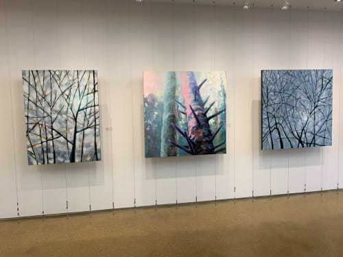 Paintings by Helen Utsal seen at PI Creative Art | PI Fine Art, Toronto - Bright Spruce paintings