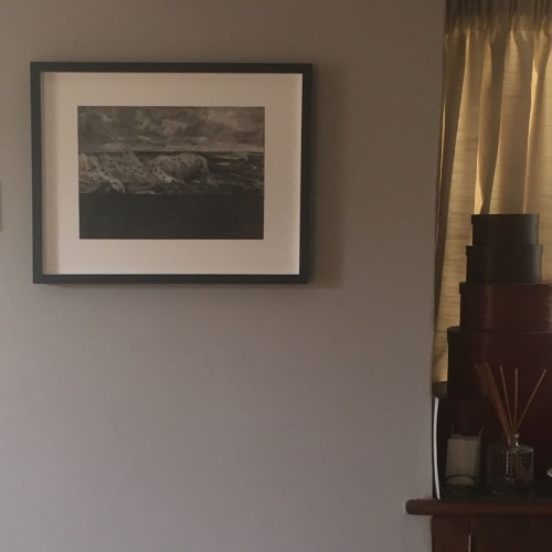 Paintings by Dominic Zwemmer seen at Private Residence, London - Gulls and White Horses II