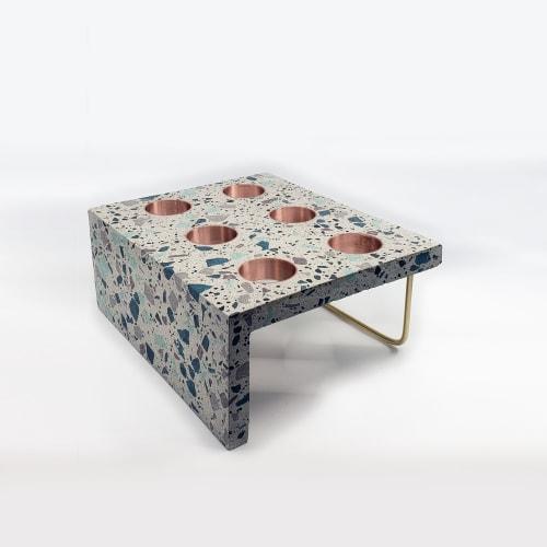 Furniture by Ryspot Design seen at Kind Ice Cream, Edmonton - Terrazzo Concrete Ice Cream Cone Stand