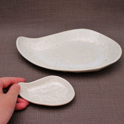Ceramic Plates by Ceramica Shigemi seen at Private Residence, Tokushima - Plate of Crystal Glaze