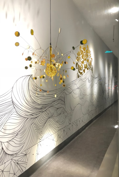Murals by Alette Simmons-Jimenez seen at Walgreens, Miami Beach - The Fades, Oolite Arts Windows at Walgreens