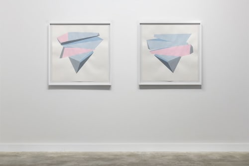 Paintings by Dameon Lester seen at grayDUCK Gallery, Austin - Calving Sequences (I-L): Reflected Color / (E-H): Reflected Color