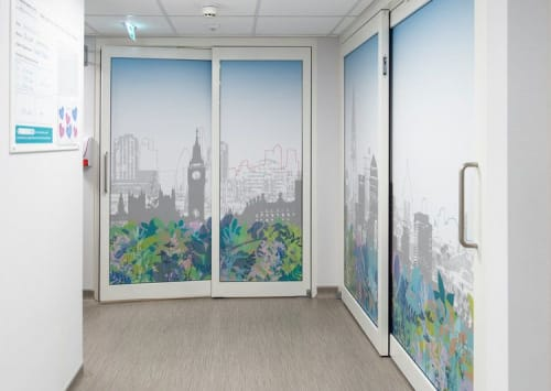 "Art & Wall Decor by Helen Bridges seen at The Princess Grace Hospital, London - ""HCA Healthcare Princess Grace Hospital"" Project"