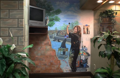 Murals by Bonnie The Genie Siracusa  Fine Art, Murals, Fine Art Wearables and Home Decor seen at Great Neck & Mid-Island Dental Associates, Hicksville - Mid Island Dental Assocs. Office and Exam Room Murals