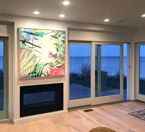 Paintings by Peter D. Gerakaris Studio seen at Private Residence, Hampton Bays - Aquaverse - Private Painting Commission