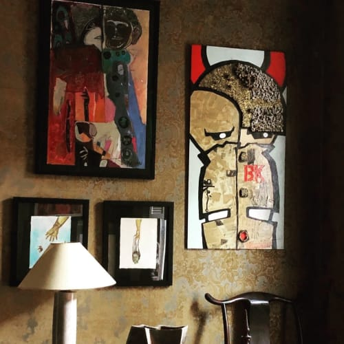 Paintings by Voodo Fé seen at Private Residence, Brooklyn - Painting