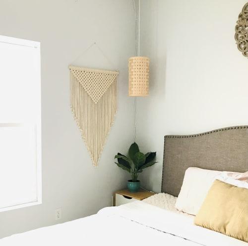 Macrame Wall Hanging by YASHI DESIGNS seen at Private Residence, Milpitas - Elegant Macrame Wall Hanging, Geometric Wall Art - Adira