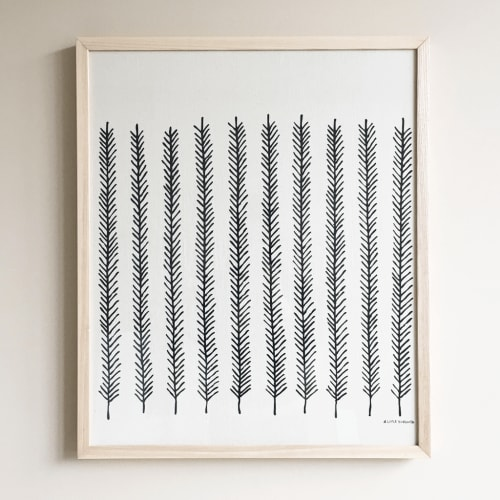 Wall Hangings by Little Korboose - Feather   Framed Textile 18x24