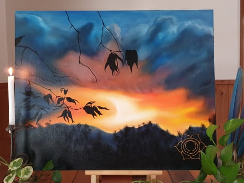 "Paintings by Shakira Lee Quin seen at Private Residence, Palmwoods - ""Always look to the sky"""