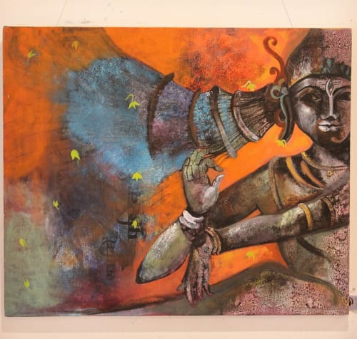 Paintings by Sharwaree's Artstation seen at Sharwaree's Artstation, Nagpur - Shiva