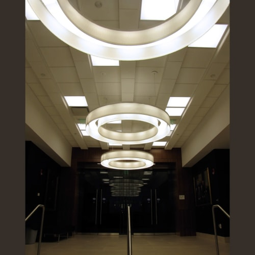 Pendants by ILEX Architectural Lighting seen at Tufts University, Medford - Saturn Pendants
