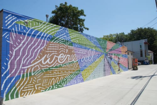 Street Murals by LC Studio Tutto seen at 1608 Q St, Sacramento - All In