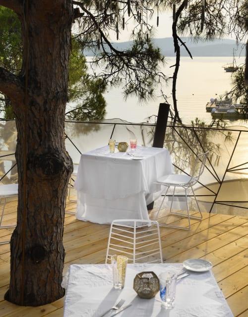 Tableware by CTRLZAK Studio seen at EKIES All Senses Resort, Sithonia Halkidiki, a Member of Design Hotels, Vourvourou - Hybrid Glasses
