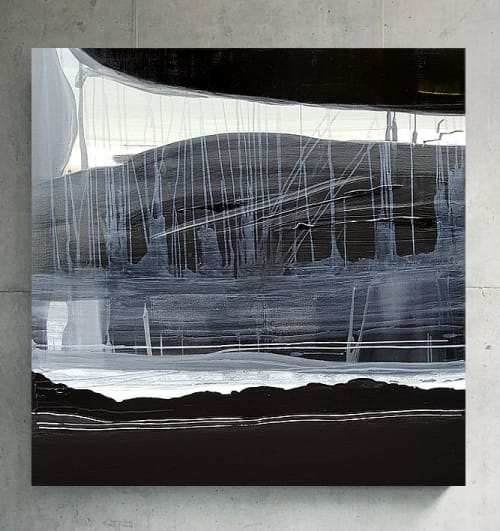 Paintings by Emilie Heurtevent seen at Private Residence, Sydney - Decay & Renewal #10 and #11