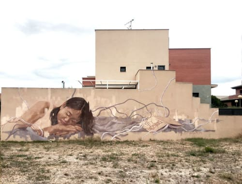 Street Murals by Caryn Koh seen at Torrefarrera, Torrefarrera - Fairy Tale