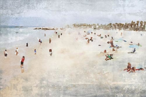 Paintings by Irena Orlov seen at Creator's Studio, Los Angeles - On the Beach