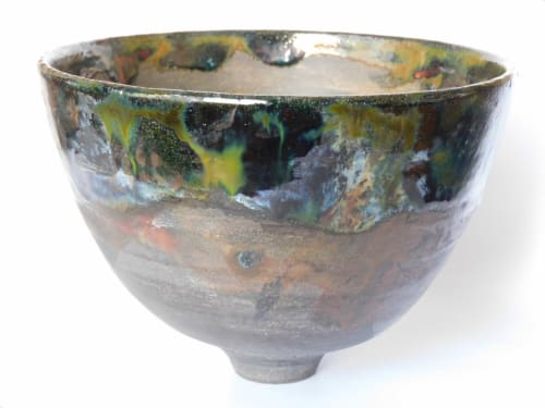 Sculptures by Black Rose Ceramics seen at Private Residence, Leicester, Leicester - Raku bowl