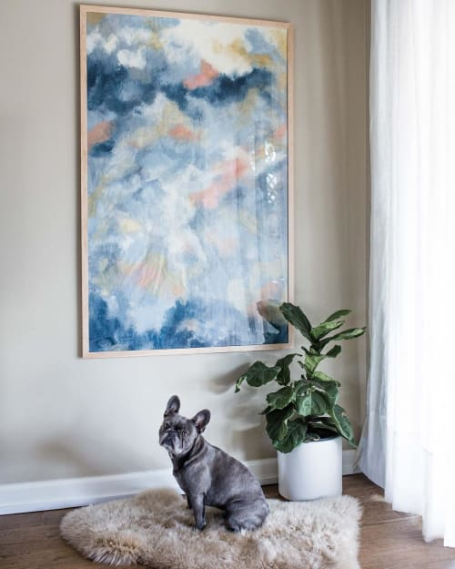 """Paintings by Emily Tingey seen at Private Residence, Costa Mesa - """"Breathing Air"""""""