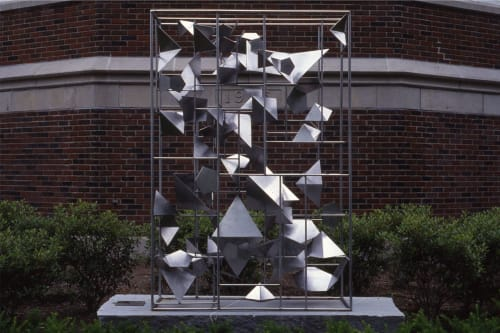 Public Sculptures by David Colbert seen at Northwestern Connecticut Community College, Winsted - RANDOM ORDER
