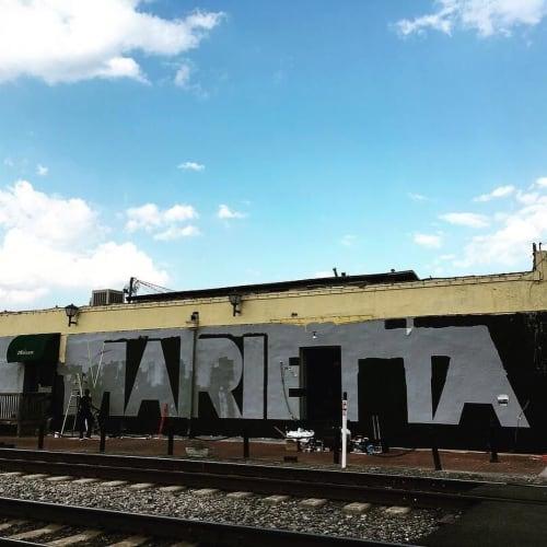 Street Murals by Craig Stanley seen at Marietta Square, Marietta - MARIETTA