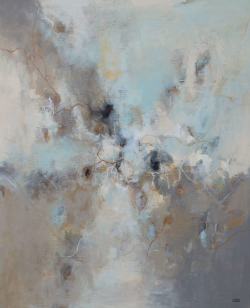 """Paintings by Christina Doelling, Abstract Artist seen at Private Residence - """"Warm Cocoa"""" 