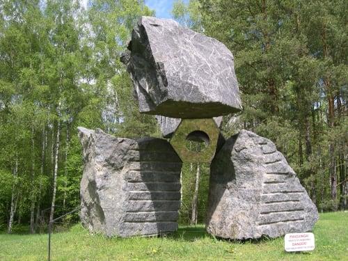 Public Sculptures by Jon Barlow Hudson / Hudson Sculpture llc. seen at Europos parkas - CLOUD HANDS I