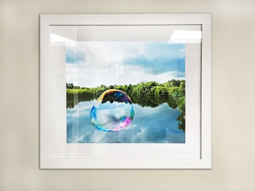 Photography by Artist Cheryl Maeder seen at The Good Samaritan Medical Centre, Chipping Norton - World Upside Down 10