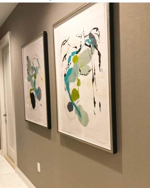 Paintings by Tracey Adams at Private Residence, Boston - Abstract Painting