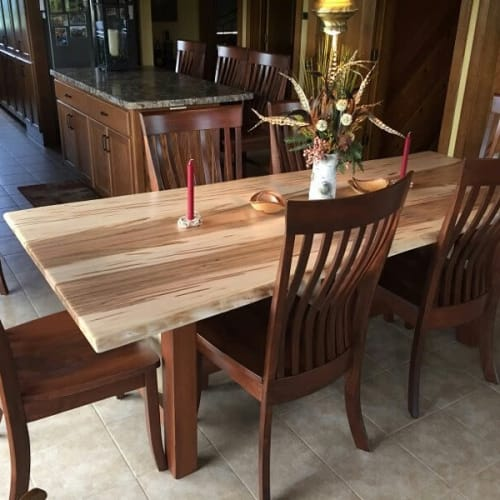 Tables by Kloes Custom Woodwork seen at Private Residence, Madison - Ambrosa Maple Table and Chairs