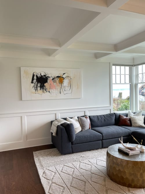 Paintings by Amy Stone seen at Private Residence, Bainbridge Island - Commissioned Work
