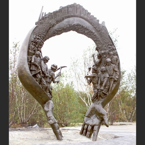 Sculptures by Sculpture By Timothy P. Schmalz Inc. seen at Greater Sudbury, Greater Sudbury - Mining Monument