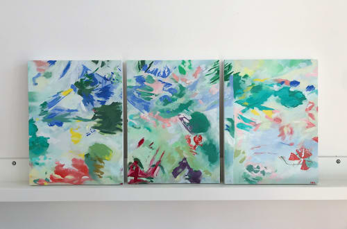 Paintings by Maggie Perrin-Key seen at Richmond, Richmond - Commission Triptych