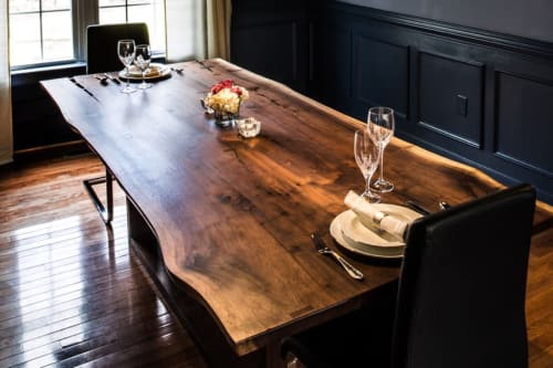 Tables by Alicia Dietz Studios seen at Private Residence, Richmond - Live Edge Dining Table (in Walnut)