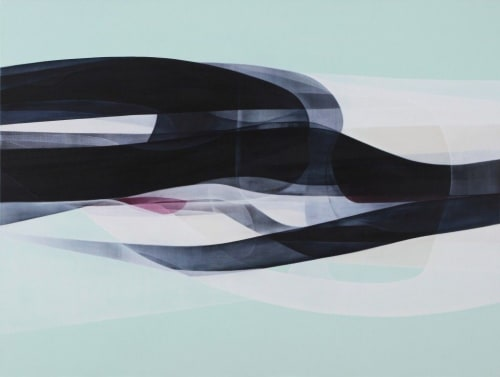 Paintings by Agneta Ekholm seen at Private Residence, Melbourne - Light Space Linear Momentum