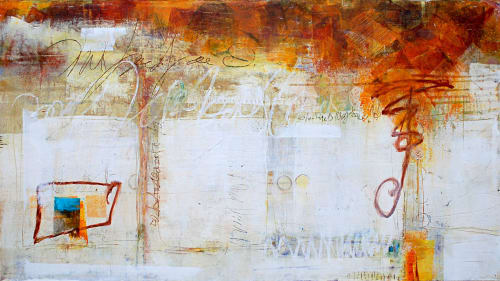 """Paintings by Pamela K Beer Contemporary Fine Art seen at Creator's Studio, Sammamish - """"Reference Point"""""""