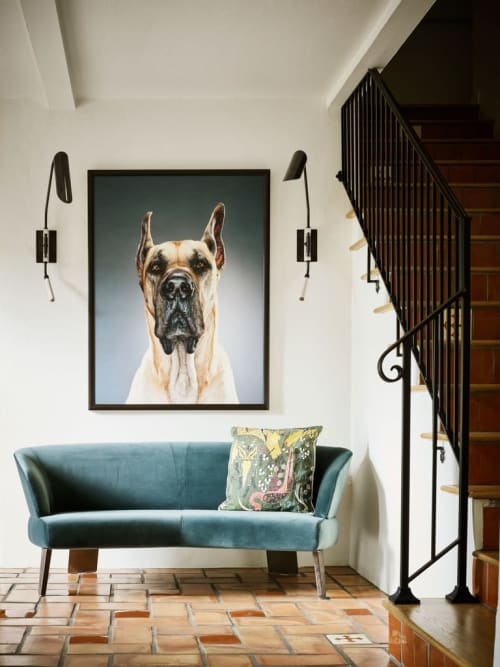 Paintings by Jill Greenberg seen at Private Residence, West Hollywood - Flank