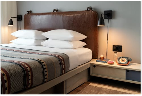 Sconces by Southern Lights Electric seen at Moxy Nashville Vanderbilt Area, Nashville - Custom Bedside Reading Lights
