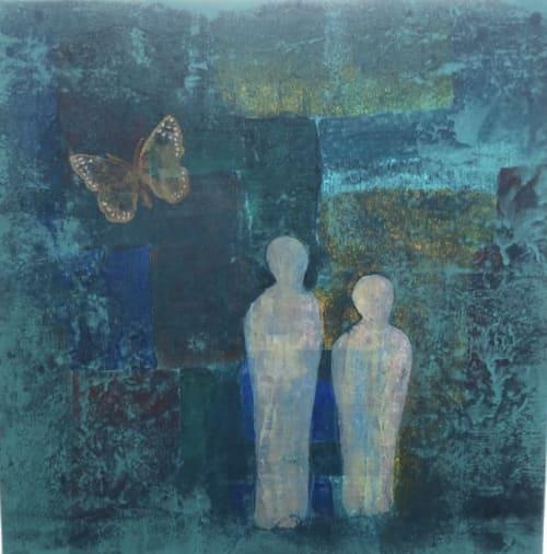 Paintings by Margaret Alice Høiesen seen at Stavanger Sentrum, Stavanger - Dreaming together