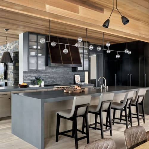 Pendants by Lumifer by Javier Robles seen at Martis Camp, Truckee - Helix Horizontal Pendant